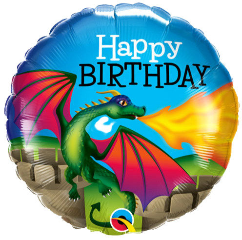 Happy Birthday Mythical Dragon Balloon