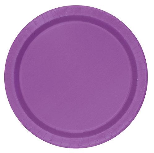 Pretty Purple Paper Plates