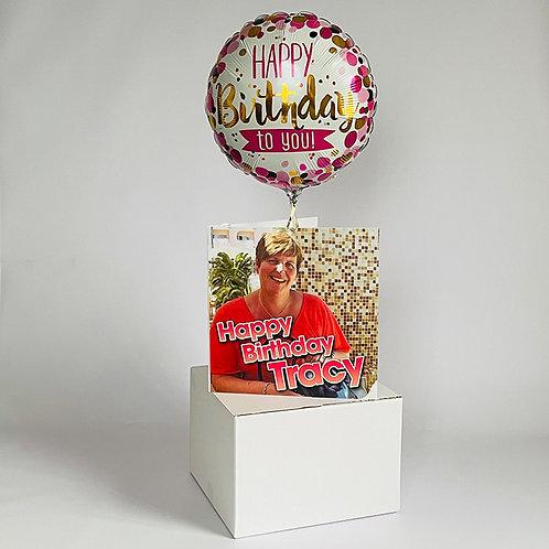 Messenger Card & Balloon Combo
