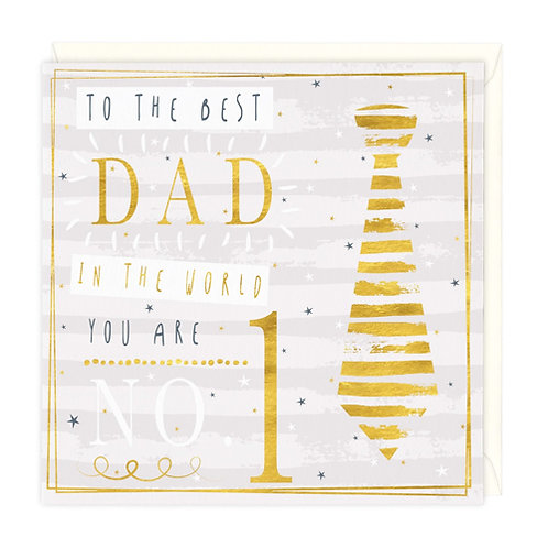 No 1 Dad In The World Card