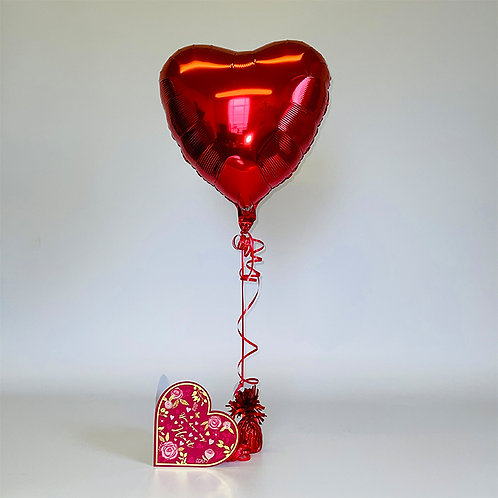 """""""You Have My Heart"""" Card & Balloon Combo"""