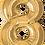 "Thumbnail: Gold 34"" Foil Number 8 Balloon"