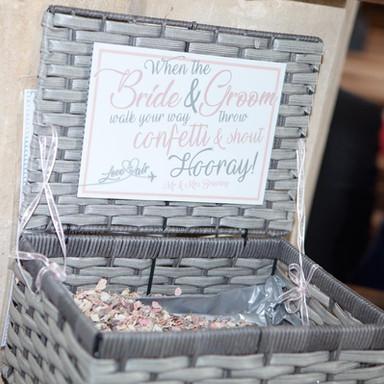 Custom Confetti box sign