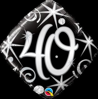 "40 Elegant Sparkles & Swirls 18"" Foil Balloon"