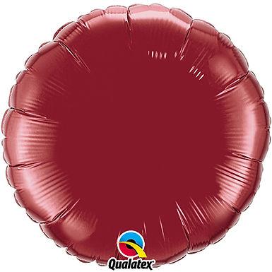 Burgundy 18 inch Circle Foil Balloon