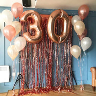 30th Birthday Balloon Display