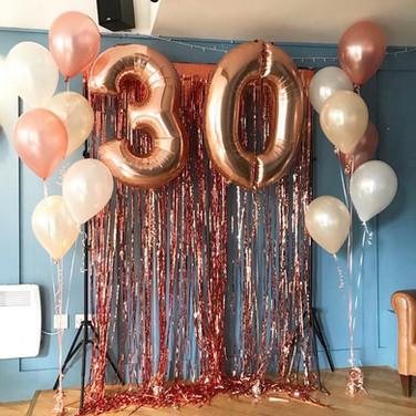 30th Birthday Balloon Display