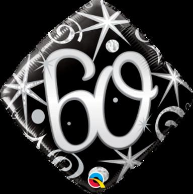 "60 Elegant Sparkle & Swirls 18"" Foil Balloon"