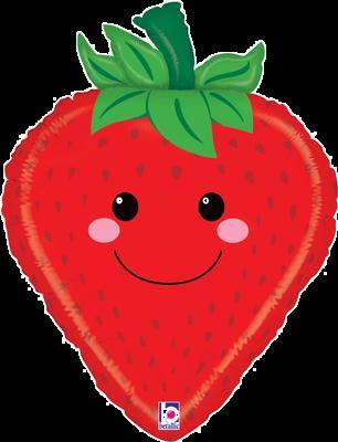 "Produce Pal Strawberry 26"" Foil Balloon"