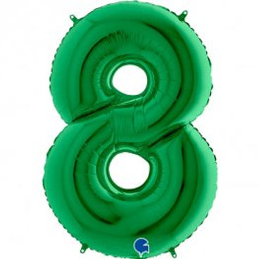 """Green 40"""" Foil Number 8 Balloon Helium Filled"""