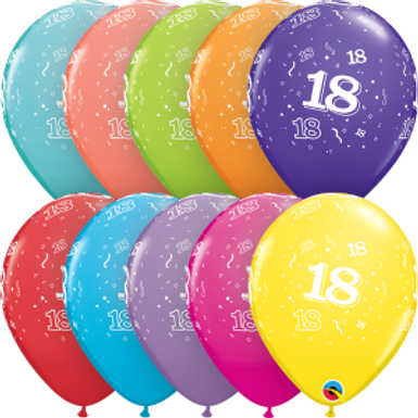 """18-A-Round 11"""" Latex Retail Pack"""