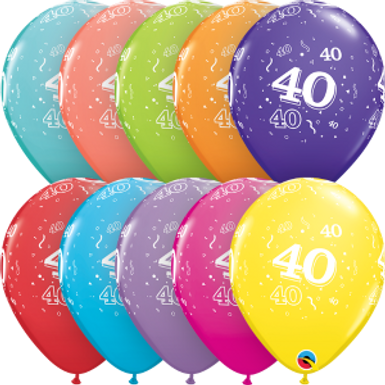 """40-A-Round 11"""" Latex Retail Pack"""