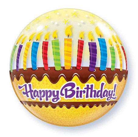Happy Birthday Layered Cake Bubble Balloon