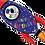 "Thumbnail: Birthday Rocket 40"" Foil Balloon"