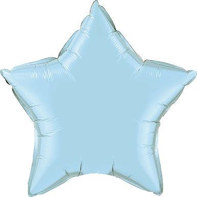 Light Blue 18 inch Star Foil Balloon