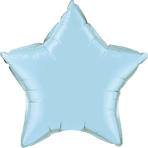 Light Blue 18 inch Star Foil Balloon