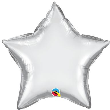 Silver 18 inch Star Foil Balloon
