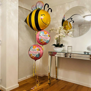 Mum You're The Queen Bee Balloon Bouquet Helium Filled