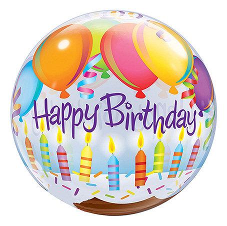 Birthday Balloons & Candles Bubble Balloon