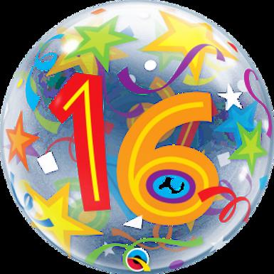 16 Brilliant Stars Bubble Balloon