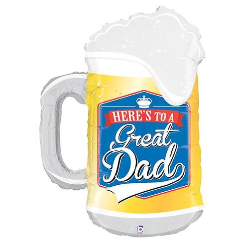 Great Dad Beer Mug Balloon