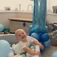 1st Birthday Balloon Tower