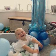 1st Birthday Balloon Tower