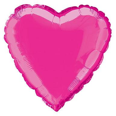 Hot Pink 18 inch Heart Foil Balloon