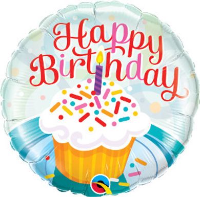 "Birthday Cupcake & Sprinkles 18"" Foil Balloon"