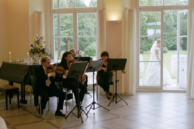 Konzertquartett im Gartensaal