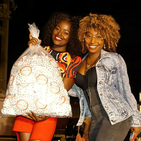 Justice Tribe Gives VMA Winner, Sherrie Silver, Organic Pads for Girls in Rwanda at YouTubeBlack