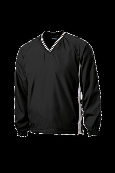 Sport-Tek® Tipped V-Neck Raglan Wind Shirt - JST62