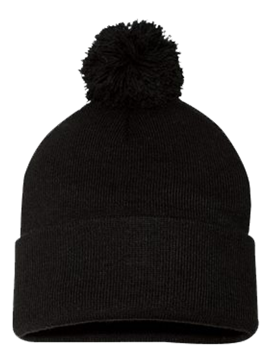 "Sportsman - Pom-Pom 12"" Knit Beanie - SP15"