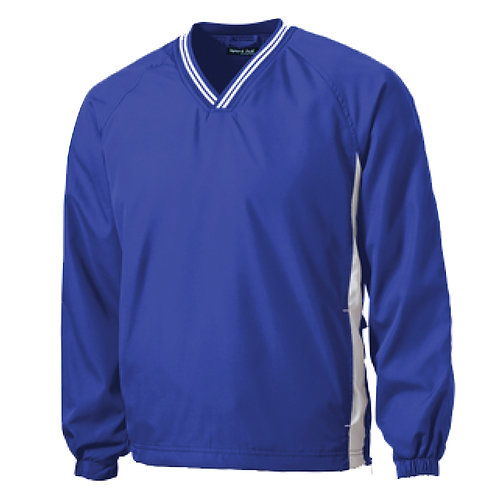 ST62 Sport-Tek® Tipped V-Neck Raglan Wind Shirt