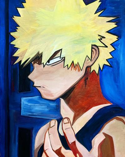 """""""Explosion Kid"""" Painting"""