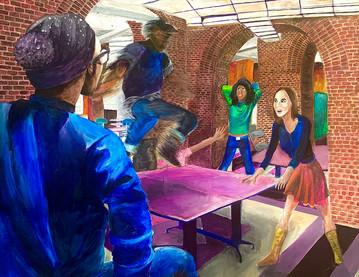 """Sophmore Year at CAPA"" Painting"