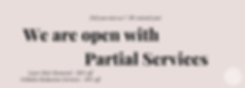 Website - COVID-19 We Are Partially Open