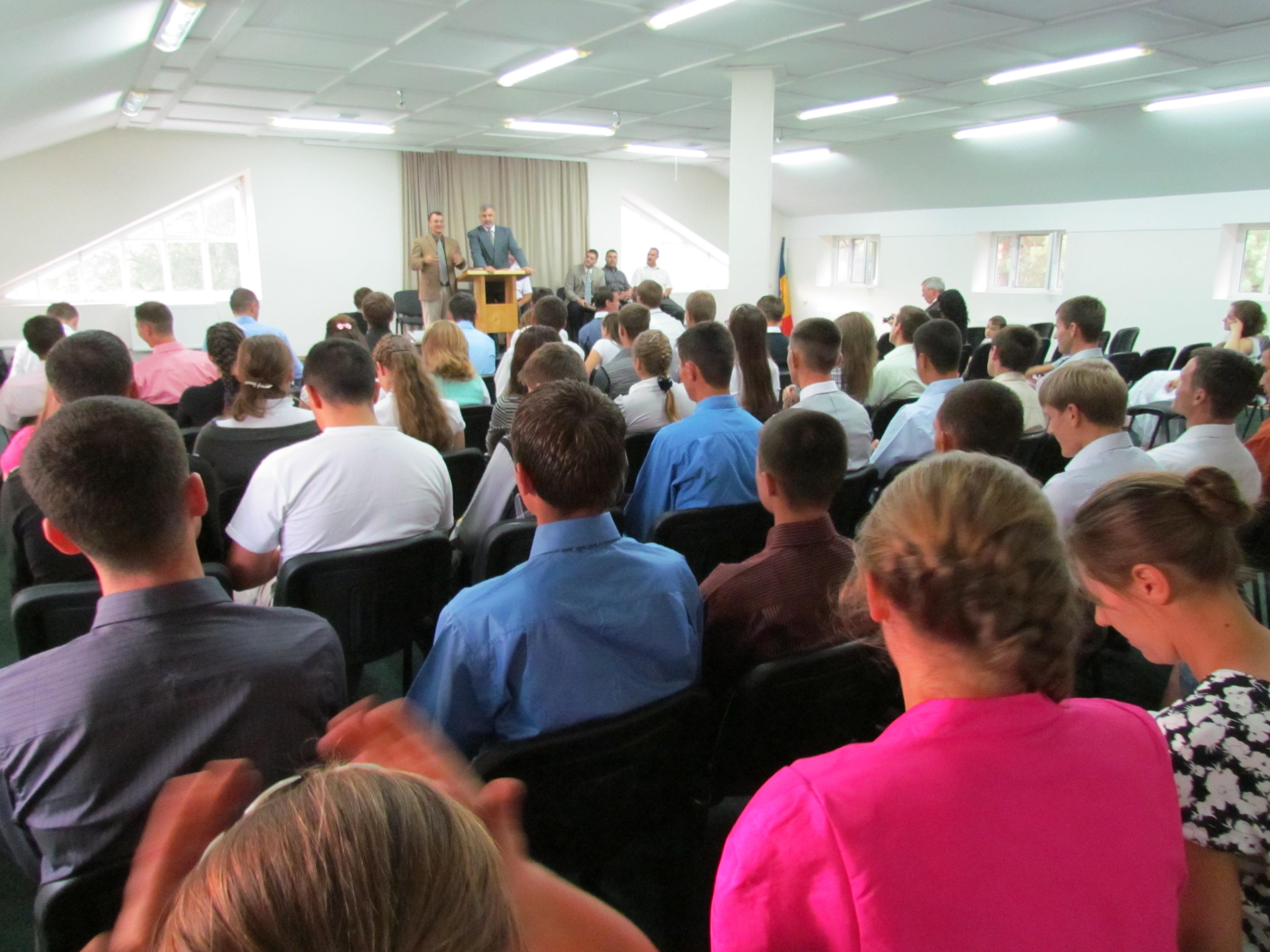 Moldovan Bible school students