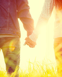 Holding Hands in the Sunshine