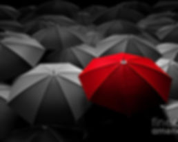 red-umbrella-stand-out-from-the-crowd-of