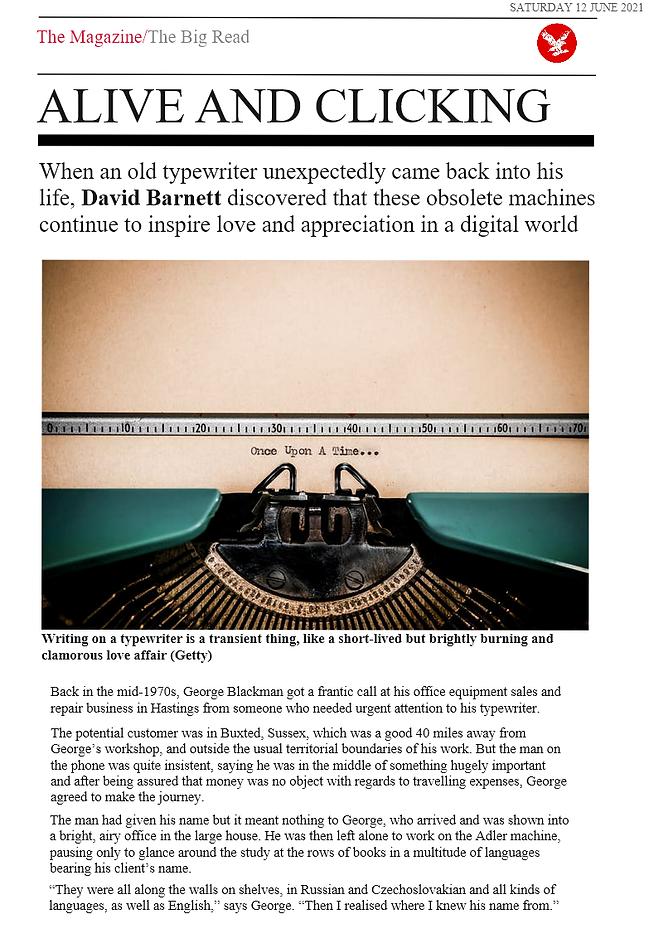George Blackman Vintage Independent Article