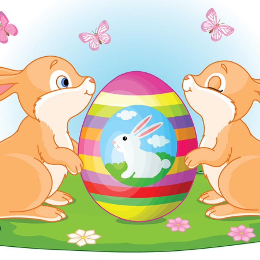 Chasse aux œufs - distribution de sacs pour les enfants