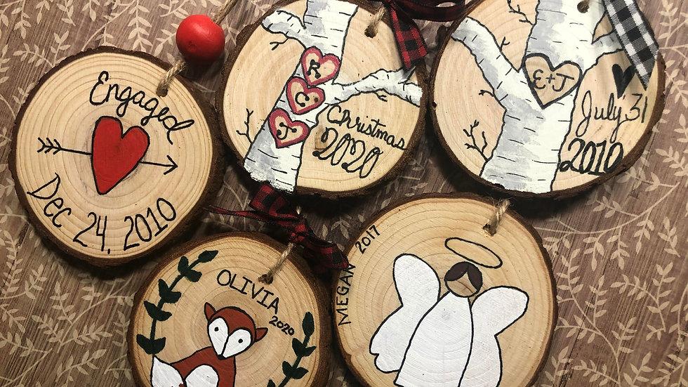 Hand-Painted Custom WoodenOrnaments