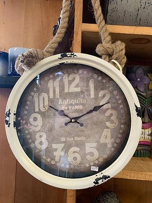 White Clock with Rope