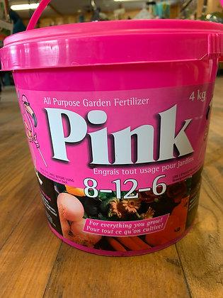 Pink All Purpose Garden Fertilizer, 8-12-6 Pail