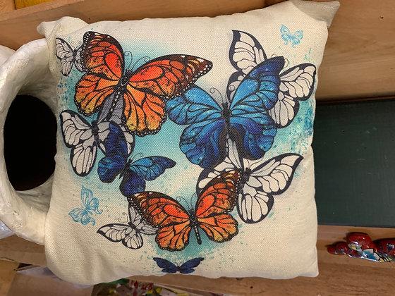 Indoor/Outdoor Butterfly Pillow