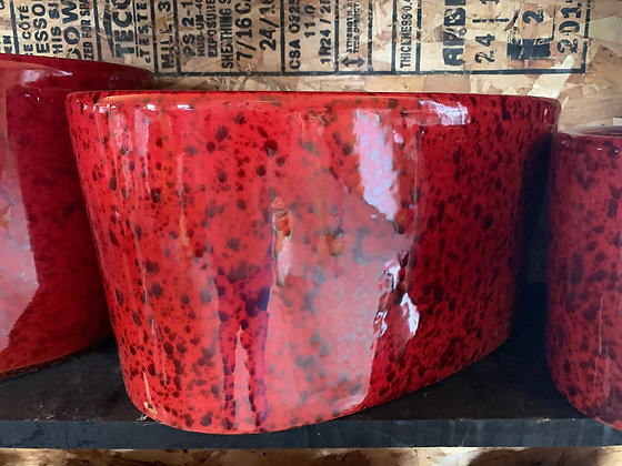 Red Glass Planter (Large)