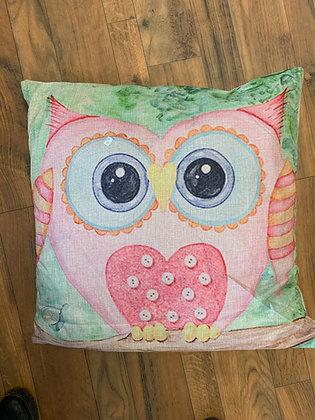 Indoor/Outdoor Owl Pillow