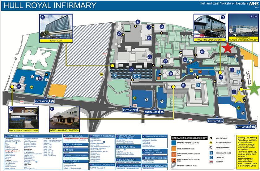 Hull Royal Infirmary Map hull surgsoc | Conference   Directions & Parking Hull Royal Infirmary Map