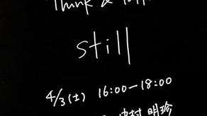 4/3(土)THINK&TALK STILL  森田真生 × 中村明珍 生対談